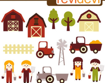 Little Farmers Clipart 07249   Digi Tal Images   Kawaii Cute Clip Art