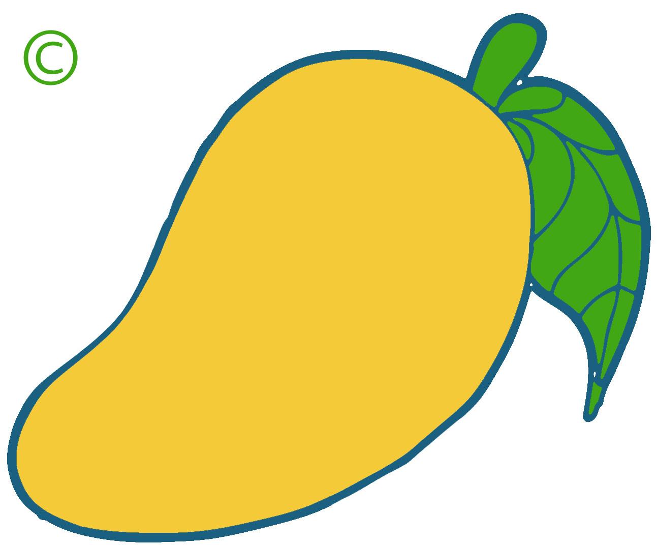 Cartoon mango tree