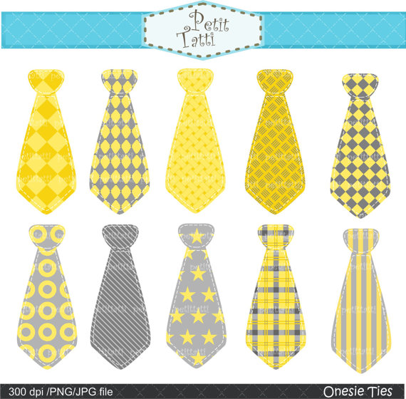 Necktie Clip Art  Ties Onesie Clip Art Onesies Tieyellow And Gray