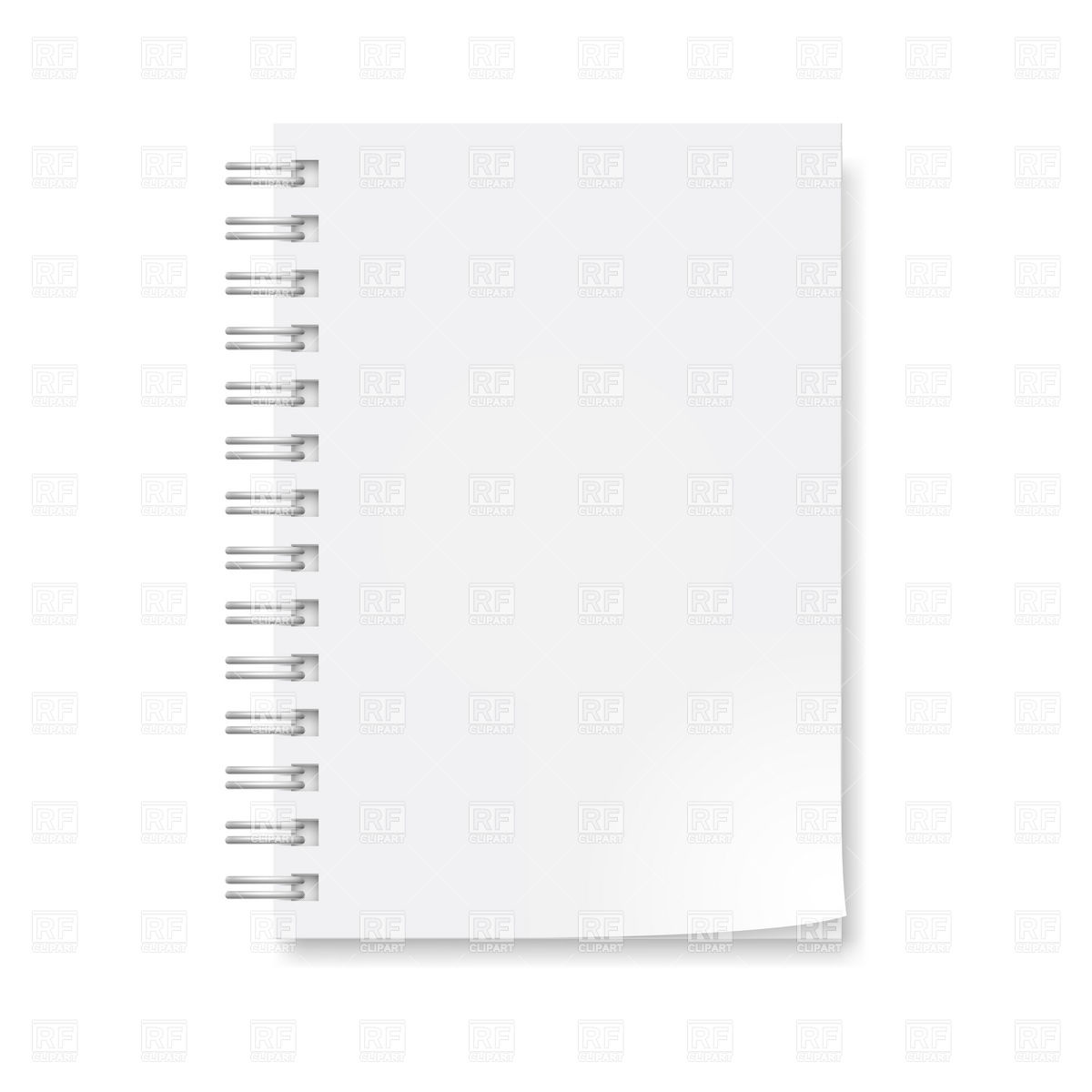Notepad With Blank Sheets Download Royalty Free Vector Clipart  Eps