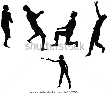 People Play Volleyball And Frisbee Stock Vector 14586256