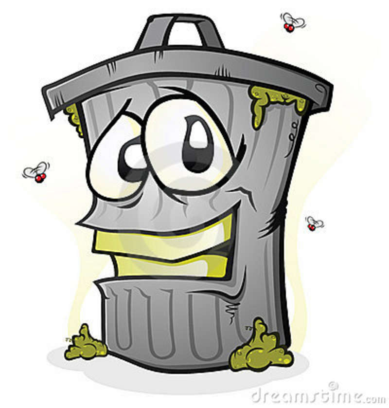 Trash Can Full Of Smelly Garbage  Not Really Sure Why He Is Smiling