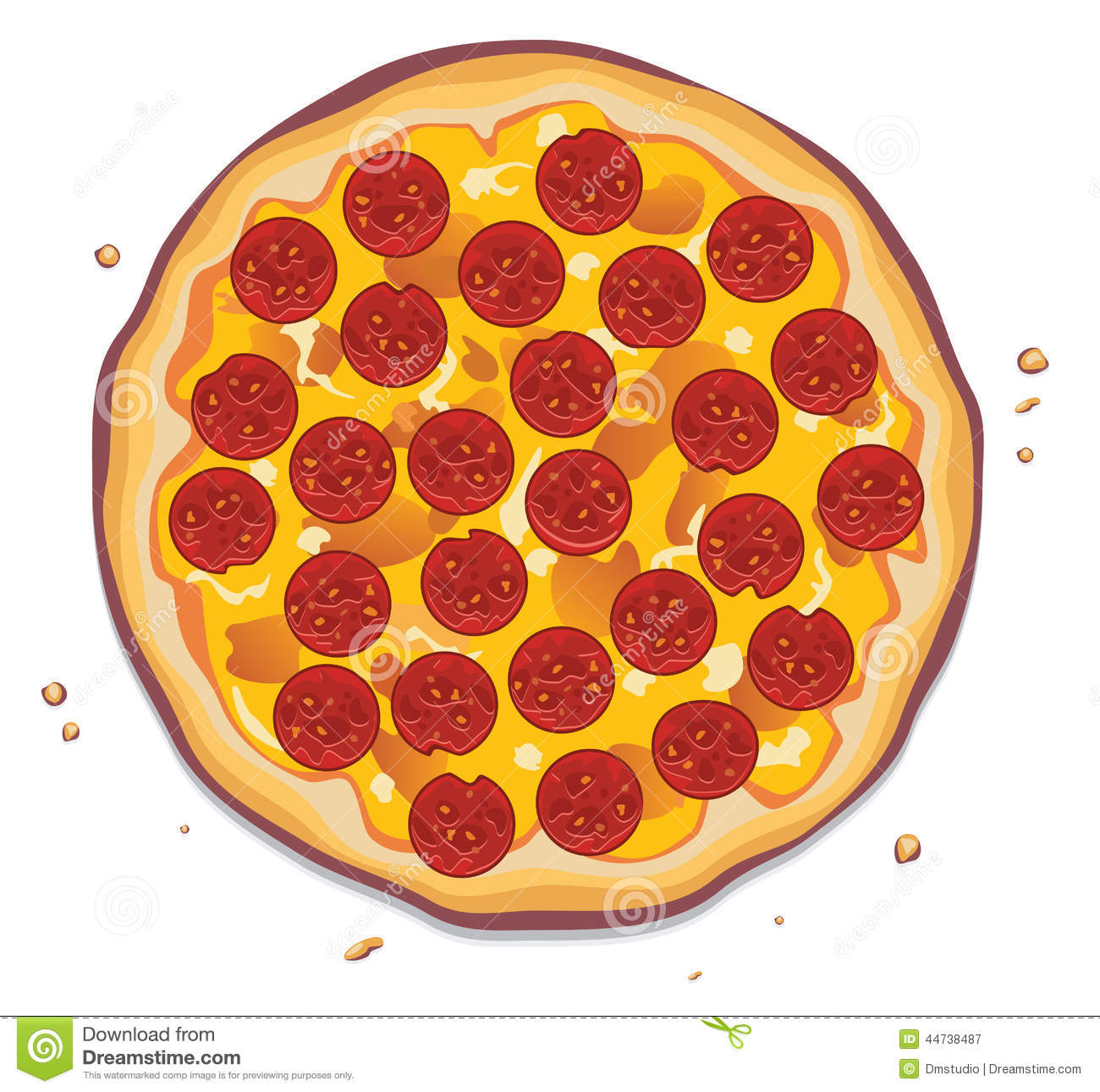 Whole Pizza Clipart Vector Pizza With Pepperoni