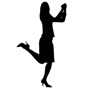Woman Clipart Image   Happy Person In Silhouette A Woman Clapping