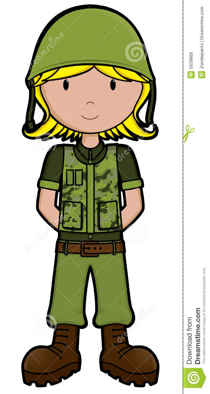 Army Girl  Vector Royalty Free Stock Images   Image  5978869