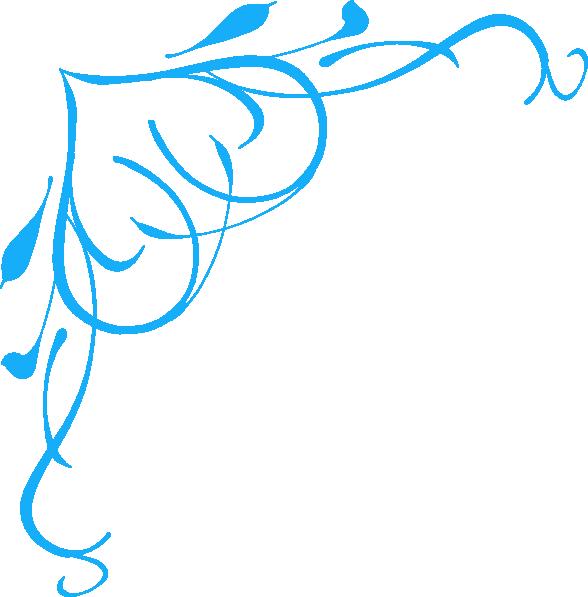 Blue Swirl Heart Clip Art At Clker Com   Vector Clip Art Online