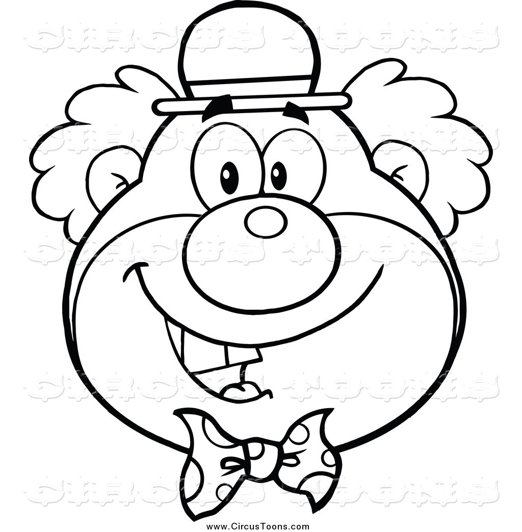 Clown black and white clipart clipart suggest for Clowns coloring pages