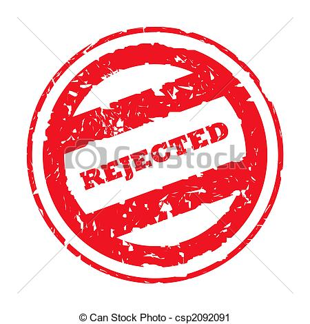 Clipart Of Rejected Red Stamp   Used Rejected Red Stamp Isolated On