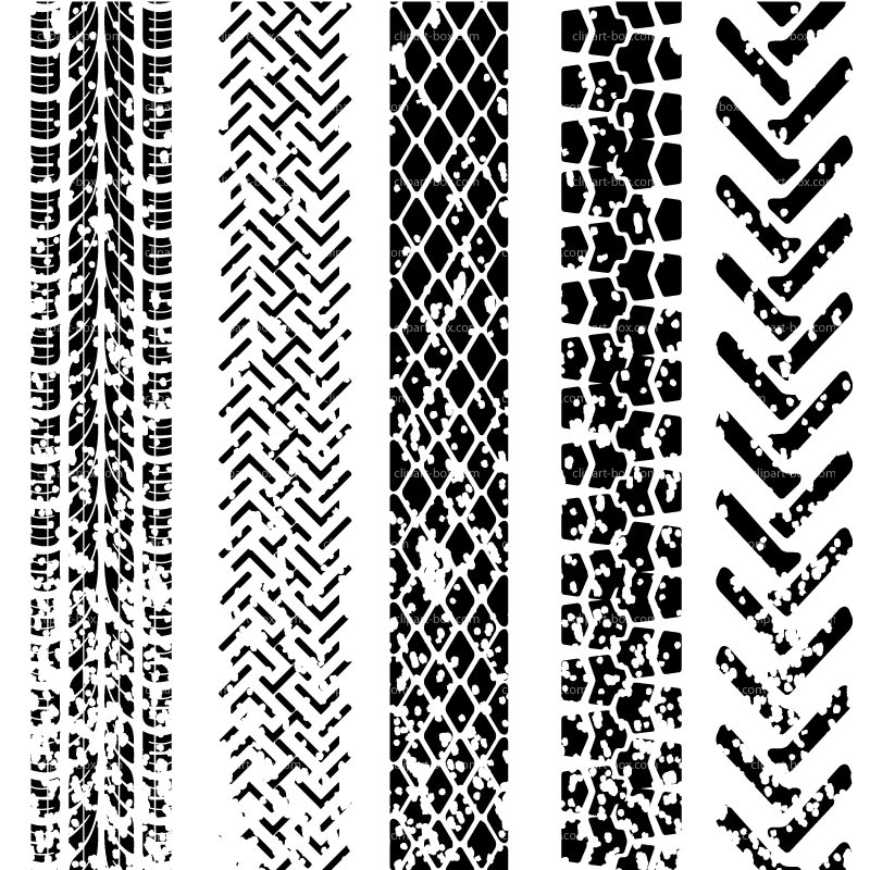 Clipart Tire Tracks   Royalty Free Vector Design