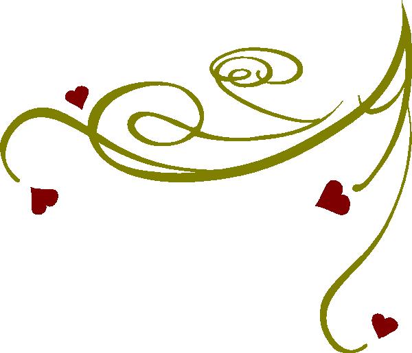 Decorative Swirl Hearts Clip Art At Clker Com   Vector Clip Art Online