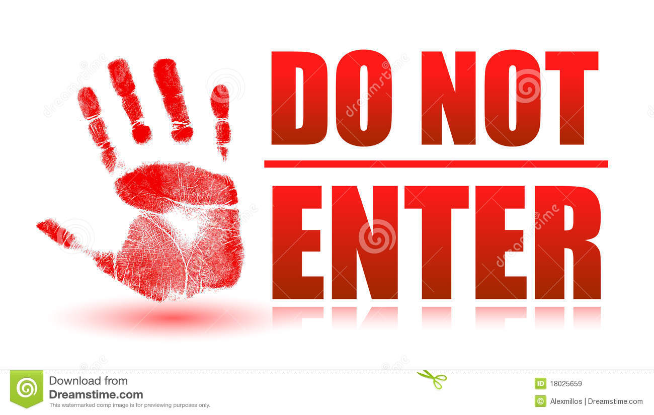 Do Not Enter Royalty Free Stock Images   Image  18025659