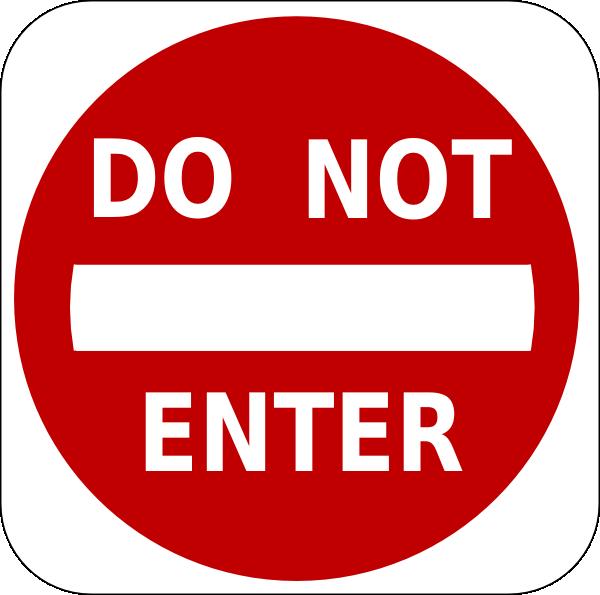 Do Not Enter Sign Clip Art At Clker Com   Vector Clip Art Online