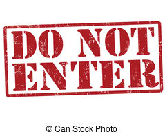 Do Not Enter Stamp   Do Not Enter Red Grunge Rubber Stamp