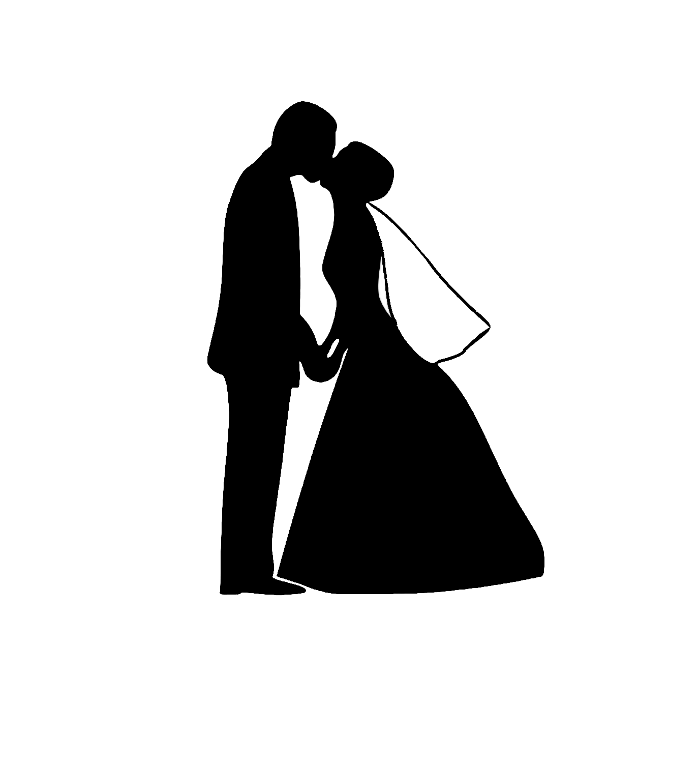 Wedding Dress And Tux Clipart
