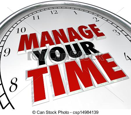 Manage Your Time Words On A Clock Face To Illustrate Time Management