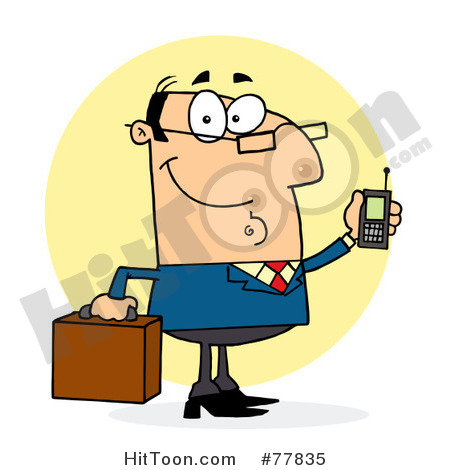 Mobile Phone Clipart  Businessman Clipart  77835