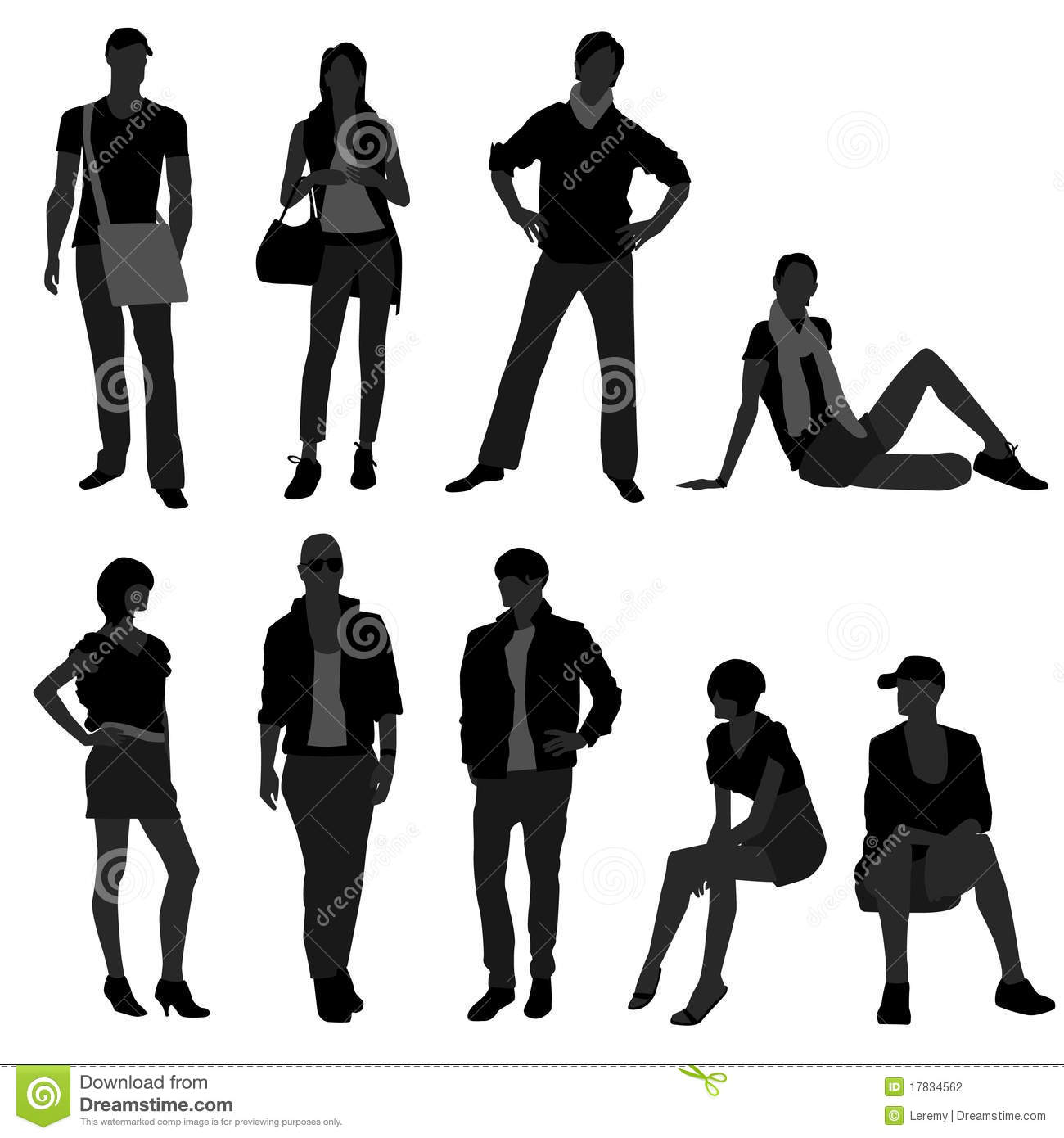 Stock Images Of   Man Male Woman Female Fashion Shopping Model