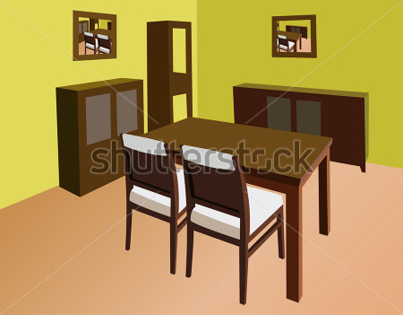 Dining room clipart clipart suggest for Comedor vector