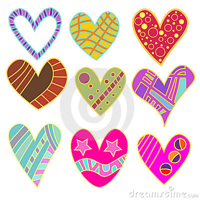 Whimsical Heart Collection Stock Photo   Image  13406430