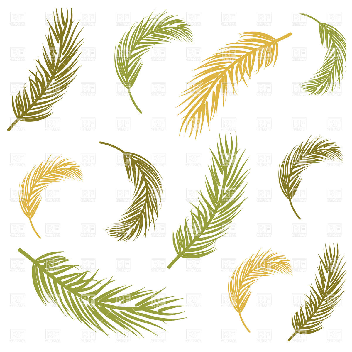 With Palm Leaves Download Royalty Free Vector Clipart  Eps