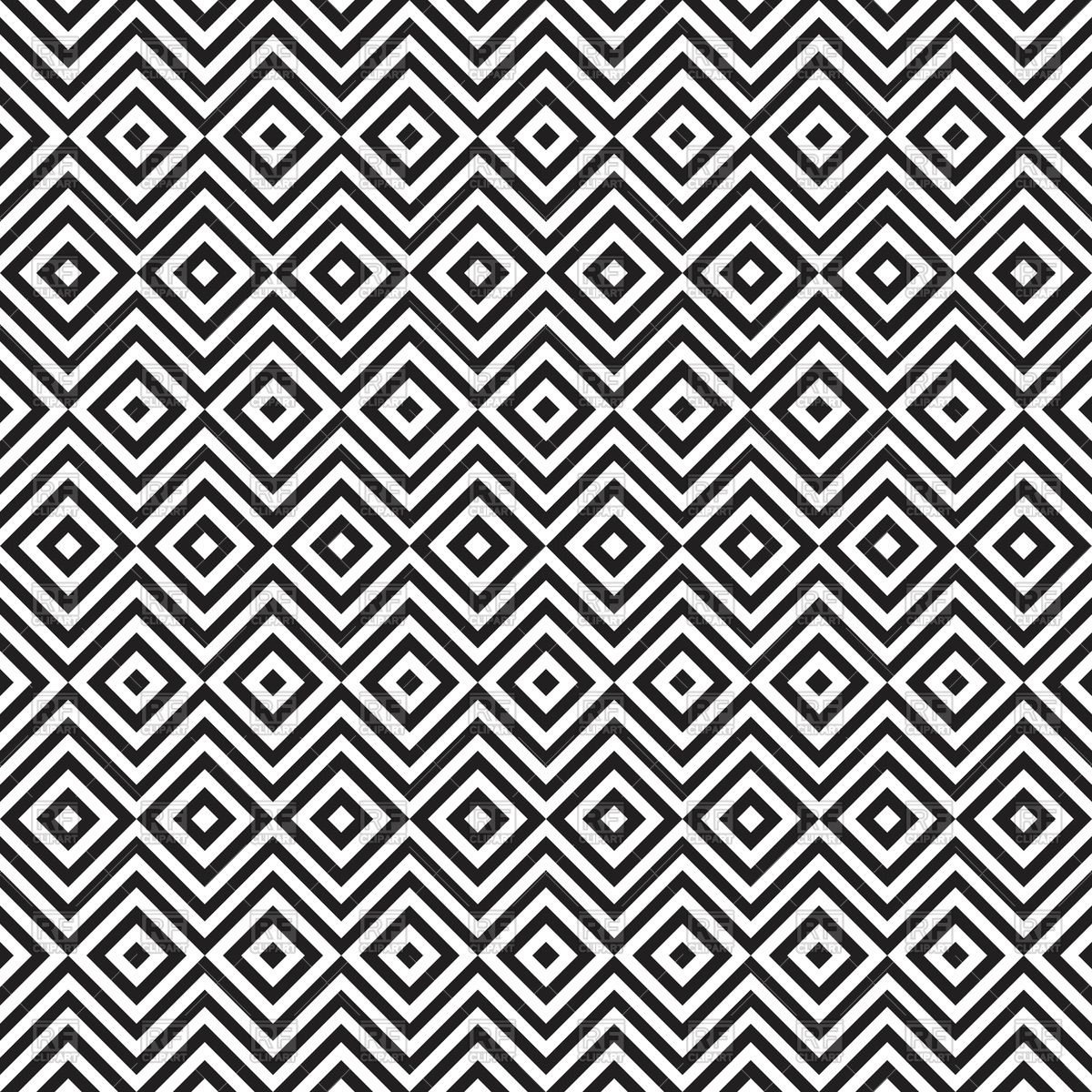 Black And White Zig Zag And Rhombus Seamless Pattern 64200 Download