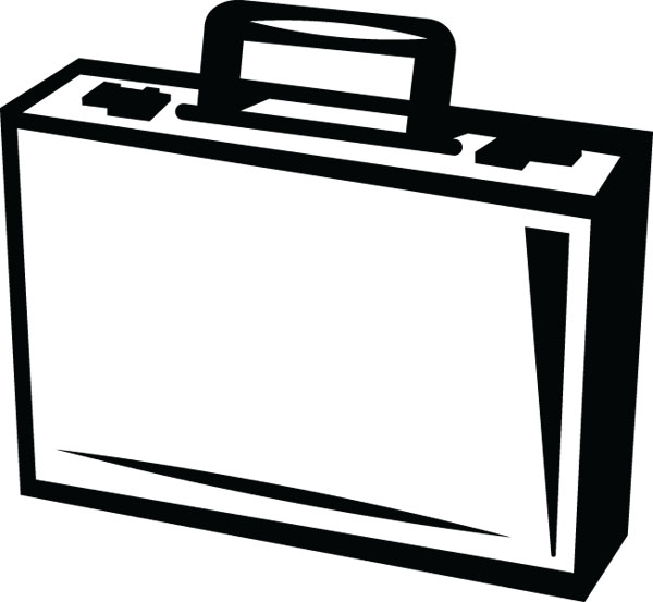 Briefcase Clip Art For Business   Office Custom Products
