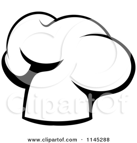 Chef Hat Clipart Black And White 1145288 Clipart Of A Black And White