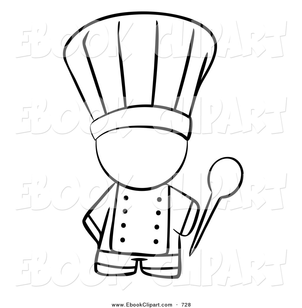 chef hat black and white clipart clipart suggest