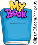 Clipart My Book Text Over A Cover Royalty Free Vector Illustration By