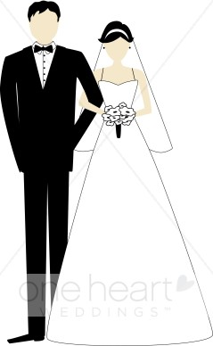 Clip Art Bride And Groom Clipart bride and groom clipart kid wedding dress outline formal ceremony dancing couple