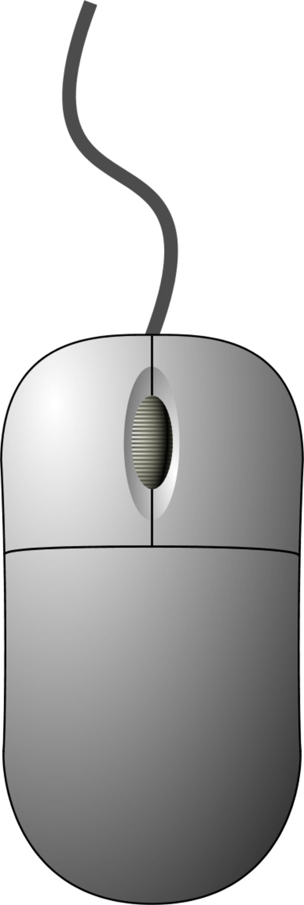 Computer Mouse Top Down View   Vector Clip Art