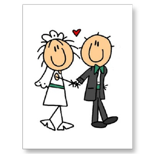Download Cartoon Bride And Groom Clipart