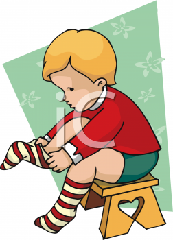 Clipart get dressed child