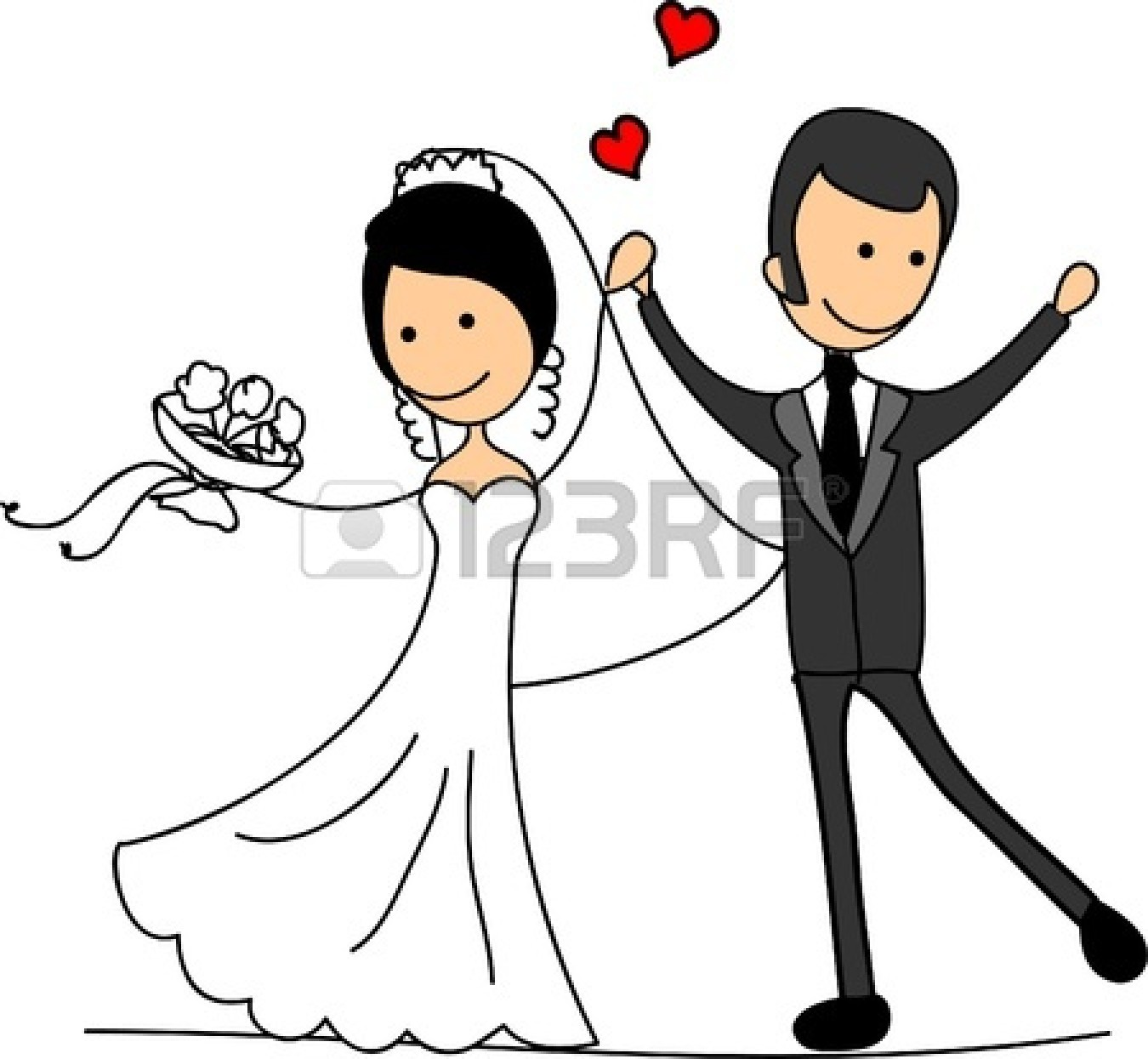 Clip Art Bride And Groom Clipart bride and groom clipart kid black white panda free images