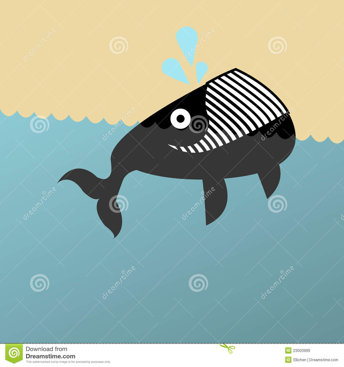 Illustration Of A Grinning Whale Royalty Free Stock Images   Image