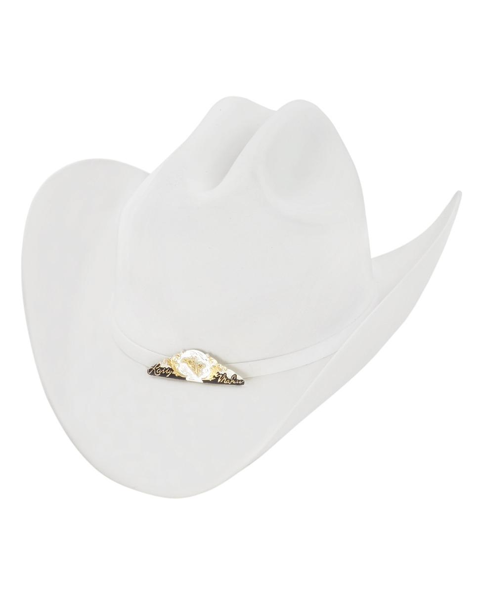 Larry Mahan 6x Bronco Felt Cowboy Hat   White