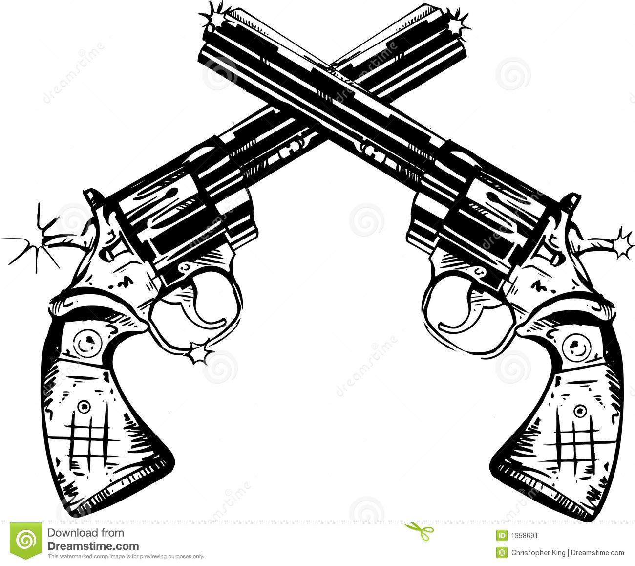 Clip Art Guns Clipart crossed guns clipart kid pen and ink illustration of two magnum pistols mr no pr 5 4532 36