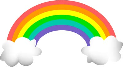 Rainbow Clipart Black And White   Clipart Panda   Free Clipart Images