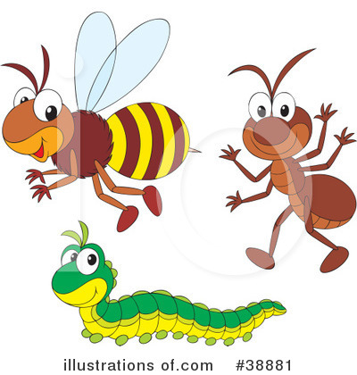 Royalty Free  Rf  Insects Clipart Illustration By Alex Bannykh   Stock