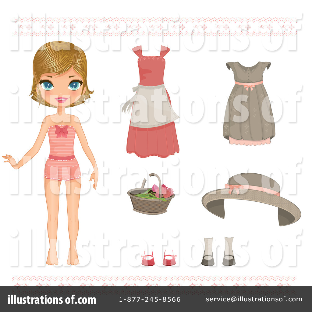 Paper Doll Clipart - Clipart Kid