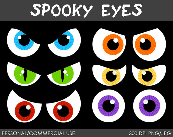 Clip Art Spooky Eyes Clip Art scary eyes clipart kid spooky digital clip art graphics for personal or