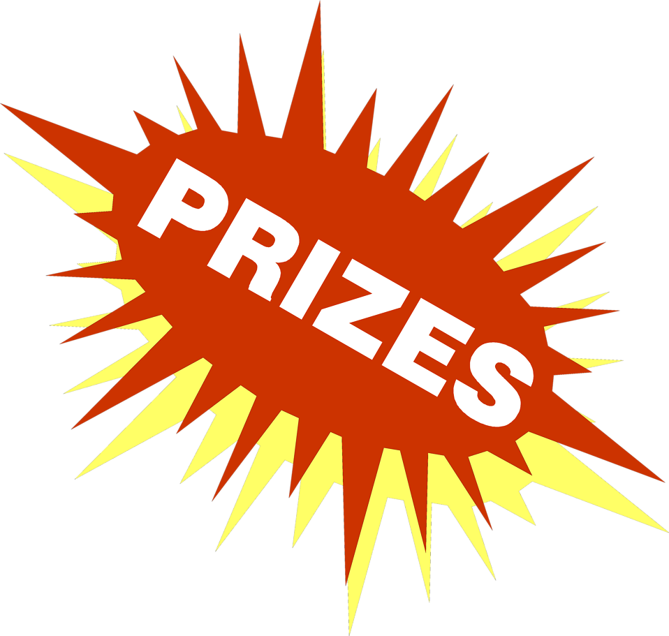 Stock Photo  Illustration Of A Red And Yellow Burst With Prize Text