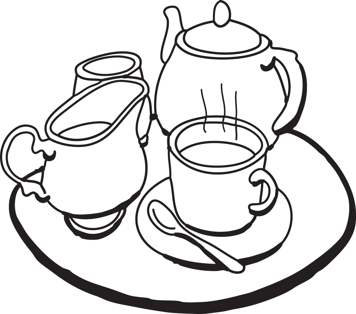 Tea Clipart Black And White   Clipart Panda   Free Clipart Images