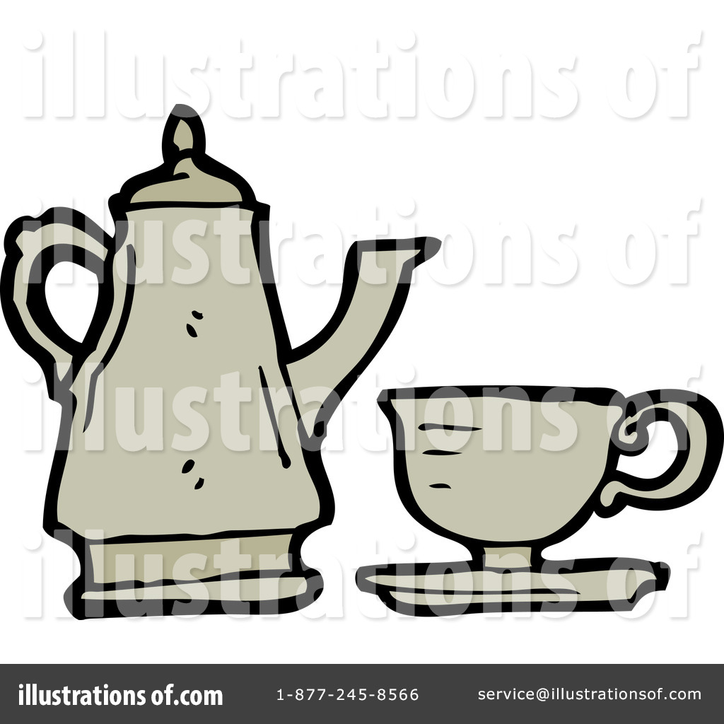 Tea Set Clipart  1216257 By Lineartestpilot   Royalty Free  Rf  Stock