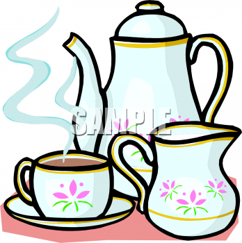 Tea Set Clipart Picture  This Image Shows A China Pot Of Either Tea