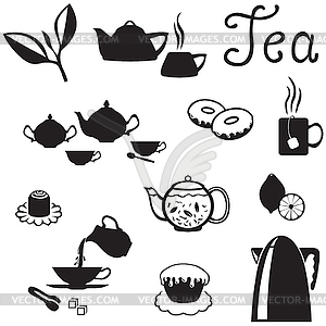 Tea Set   Vector Clipart