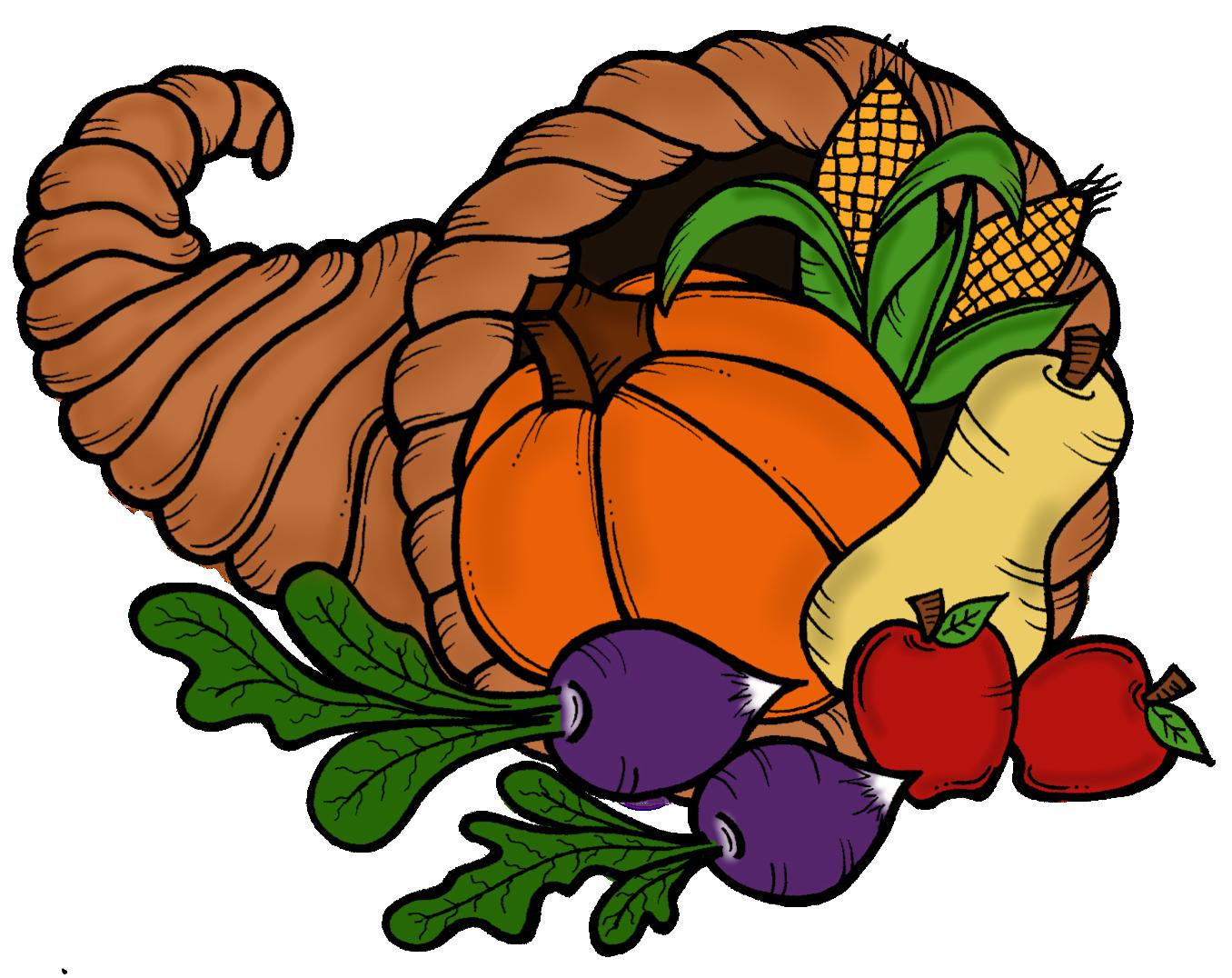 happy thanksgiving cornucopia clipart clipart suggest silly turkey clip art black and white Cute Turkey Clip Art