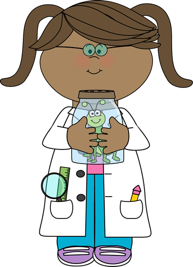 With Insect Jar Clip Art   Girl Scientist With Insect Jar Vector Image
