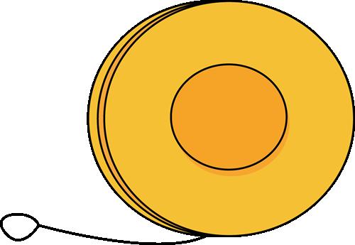 Yo Yo Clip Art Image   Large Yellow Yo Yo With A String