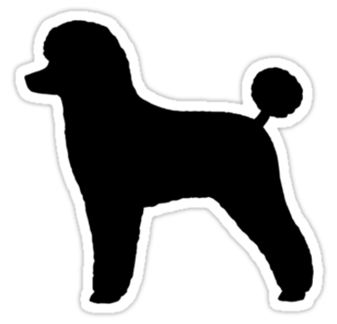 Black Toy Poodle Silhouette Stickers By Jenn Inashvili   Redbubble